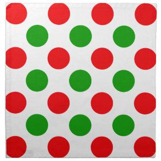 Red and Green Polka Dots Cloth Napkin