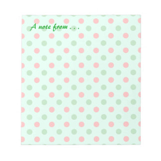 Red and Green Polka Dots Notepad