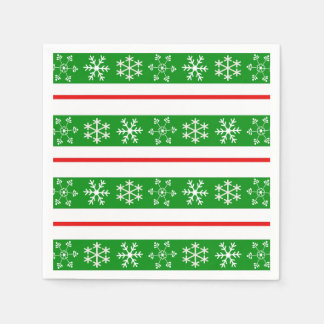 Red and Green Snowflake Napkin Disposable Napkins