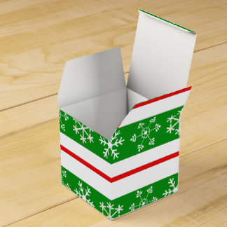 Red and Green Snowflake Treat Box