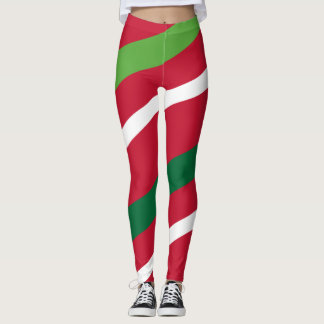 Red and Green Stripe Leggings #HolidayZ