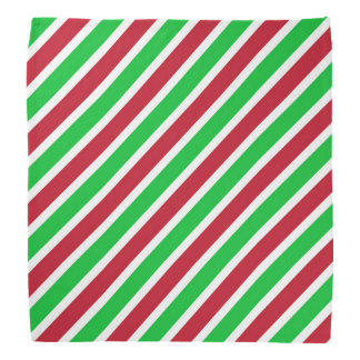 Red and Green Stripes Bandana