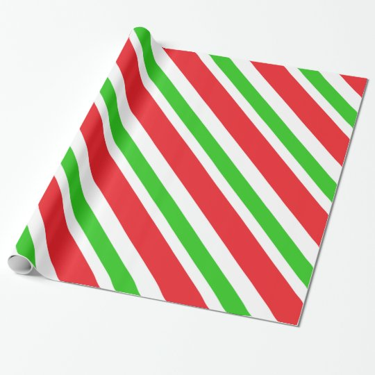 Red and Green Stripes Pattern