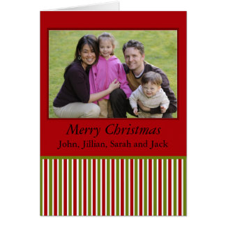 red and green stripes photocard card