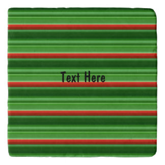 Red and Green Stripes Trivet