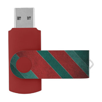 Red and Green Stripes USB Flash Drive