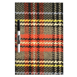 Red and Green Tartan Dry Erase Board