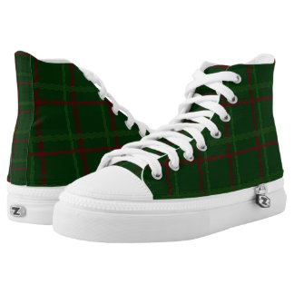 Red and Green Tartan Hi Tops