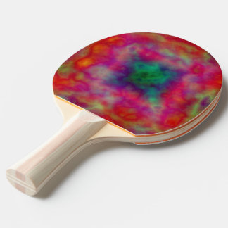 Red And Green Tie Dye Ping Pong Paddle