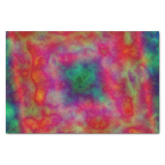 Red And Green Tie Dye Tissue Paper