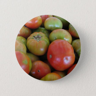 Red and Green Tomatoes 2 Inch Round Button