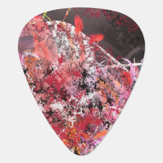 Red and Grey Abstract No.4 Guitar Pick