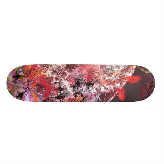Red and Grey Abstract No.4 Skateboard Deck