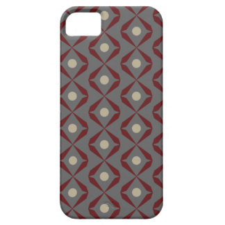 Red and Grey Geometric Iphone Cases