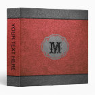 Red and Grey Leather Binder