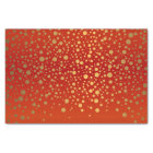 Red and Metallic Gold Confetti Tissue Paper