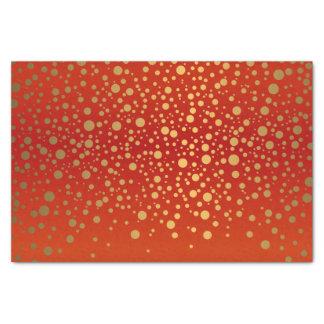 Red and Metallic Gold Confetti Tissue Paper