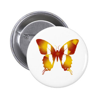 Red and Orange Butterfly Button