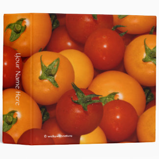 Red and Orange Cherry Tomatoes Vinyl Binders