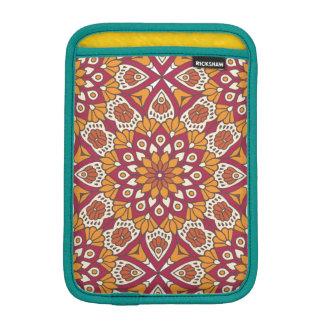 Red and Orange Floral Mandala iPad Mini Sleeve