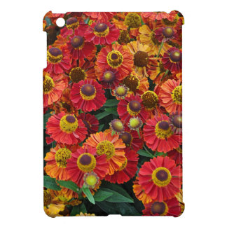 Red and orange helenium flowers iPad mini cases