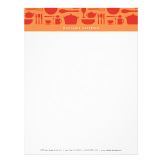RED AND ORANGE KITCHEN COLLAGE Letterhead