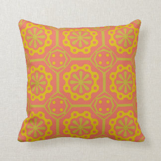 Red and Orange Ornament Pattern Pillow