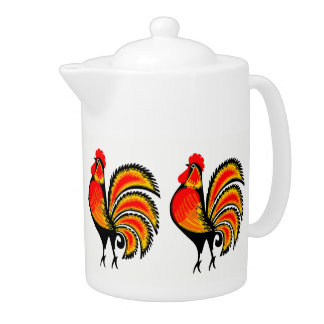 Red and Orange Roosters