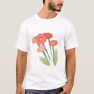 red and pink daisy design T-Shirt