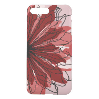 Red and pink flower petals iPhone 7 plus case