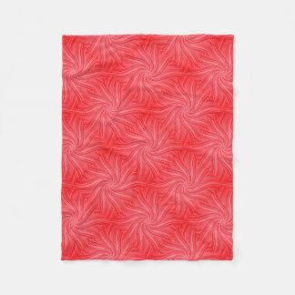 Red and Pink Flowing Flower Print Fleece Blanket