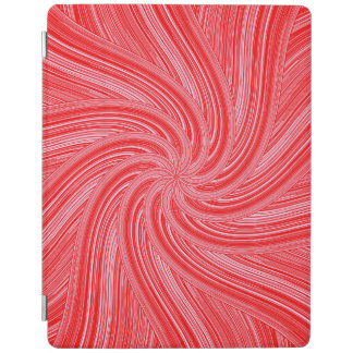 Red and Pink Flowing Spiral  Print iPad Cover