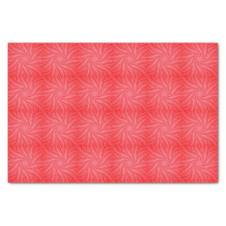 Red and Pink Flowing Spiral  Print Tissue Paper