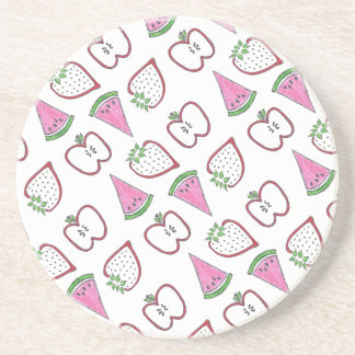 Red and Pink Fruit Coaster