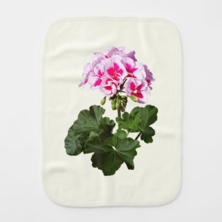 Red And Pink Geranium Burp Cloth