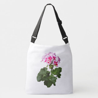 Red And Pink Geranium Crossbody Bag