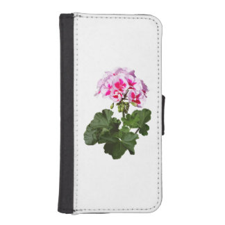 Red And Pink Geranium iPhone SE/5/5s Wallet Case