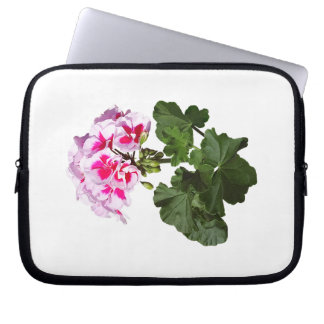Red And Pink Geranium Laptop Sleeve