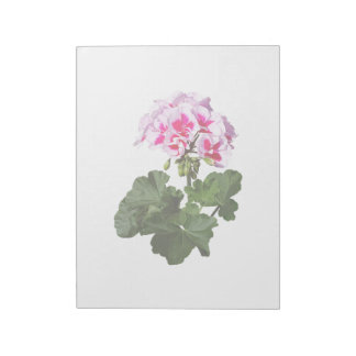 Red And Pink Geranium Notepad