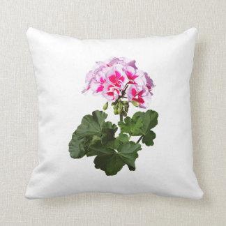 Red And Pink Geranium Throw Pillow