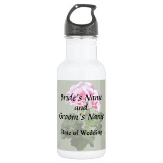 Red And Pink Geranium Wedding Supplies 532 Ml Water Bottle
