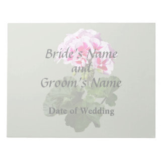 Red And Pink Geranium Wedding Supplies Notepad