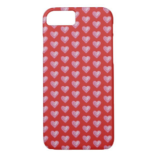 Red and Pink Heart Pattern iPhone 8/7 Case