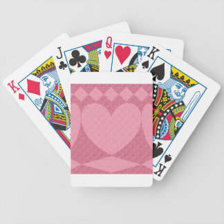 red and pink hearts bicycle playing cards