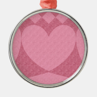 red and pink hearts metal ornament