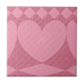 red and pink hearts tile
