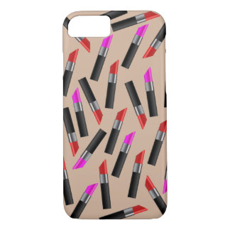 Red and Pink Lipsticks. Makeup Artist iPhone 7 Case