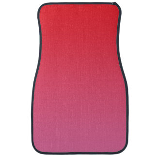 """Red And Pink Ombre"" Car Carpet"