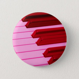 Red and Pink Piano or Organ Keyboard 2 Inch Round Button