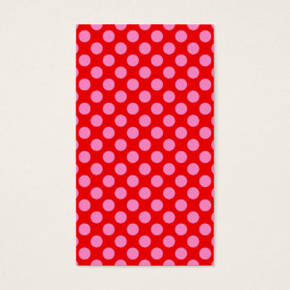 Red and Pink Polka Dots Business Card